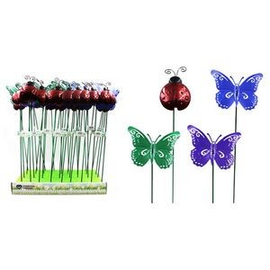 Metal Ladybug/Butterfly Plant Stake
